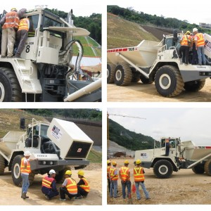 Million Base technicians were performing start up checking, when the Terex Articulated Dump Trucks were new arrived.