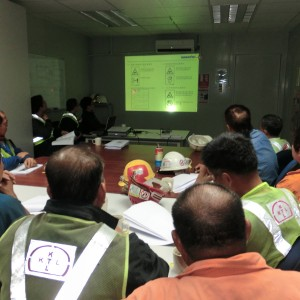 As per request by customer, we held a training of Komatsu Operation Safety for all workers. Komatsu arranged two experienced engineer as the presenter.