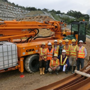A group photo after operation training of CIFA CSS-3 Concreting machine.