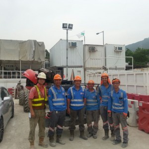 A group photo after operation training of Manitou 160ATJ Cherry Picker.